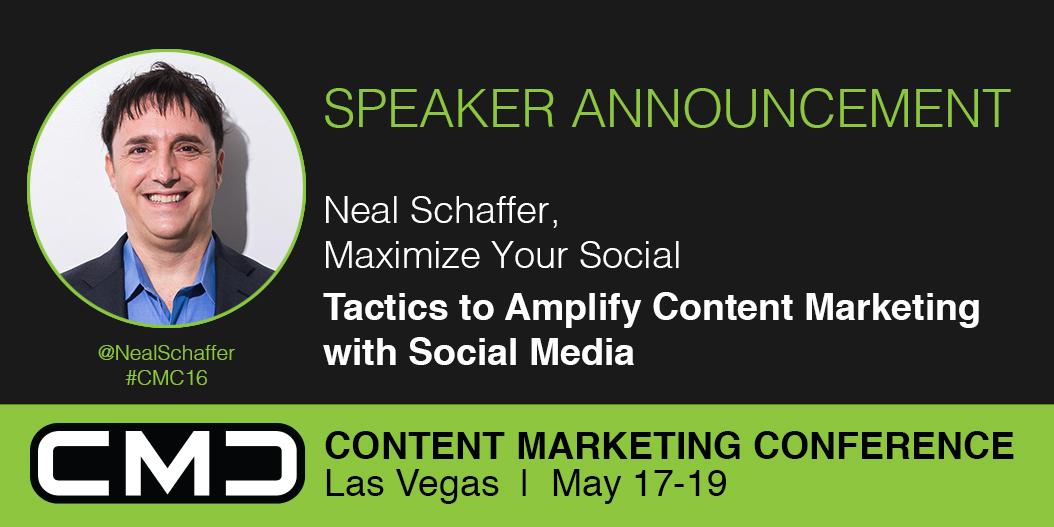 #CMC16 Speaker Spotlight: Neal Schaffer, Maximize Your Social