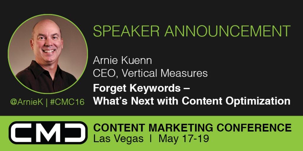 Arnie Kuenn, CMC16 Speaker
