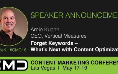 #CMC16 Speaker Spotlight: Arnie Kuenn, Vertical Measures